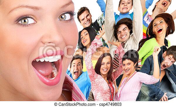 feliz, gente - csp4749803