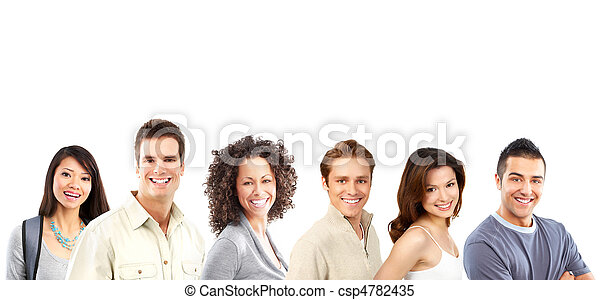 Gente feliz - csp4782435