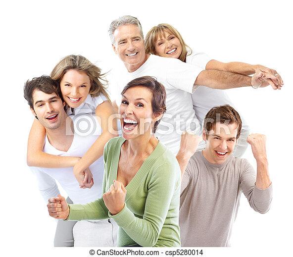 Gente feliz - csp5280014