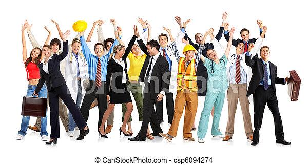 feliz, gente - csp6094274