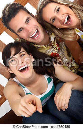 Gente feliz - csp4750489