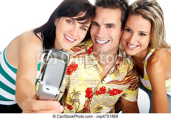 Gente feliz - csp4751869
