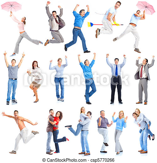 Gente feliz - csp5770266