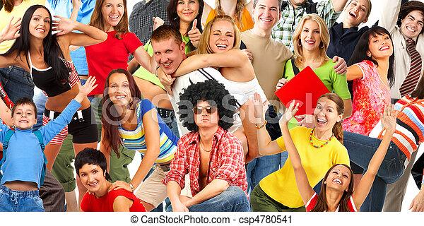 Gente feliz - csp4780541