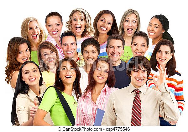 Gente feliz sonriendo - csp4775546