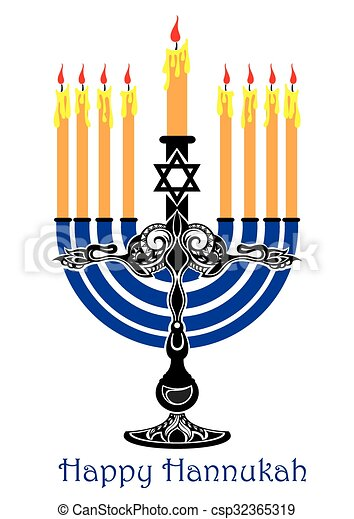 Feliz Hanukkah - csp32365319