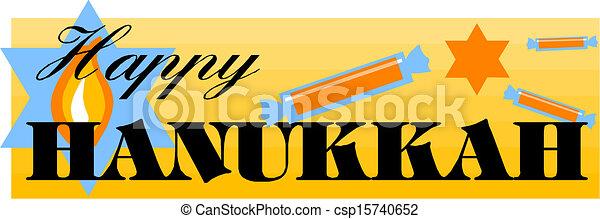 Feliz Hanukkah - csp15740652