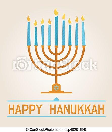 Feliz Hanukkah - csp40281698