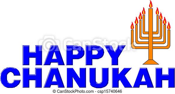 Feliz Hanukkah - csp15740646