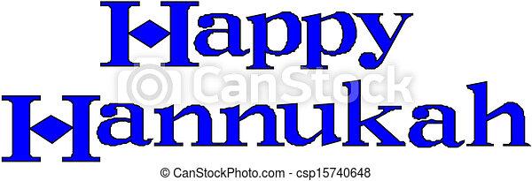 Feliz Hanukkah - csp15740648