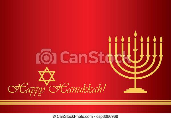 Feliz Hanukkah - csp8086968
