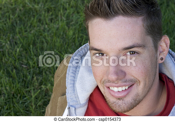 feliz, hombre - csp0154373