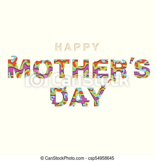 Feliz Invitación Día Tarjeta Madres Corte Madres