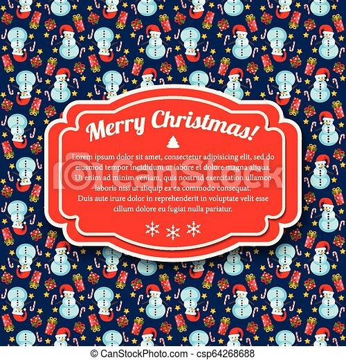 feliz natal, cartão - csp64268688
