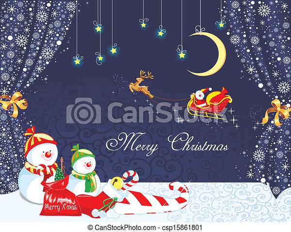 feliz natal, fundo - csp15861801