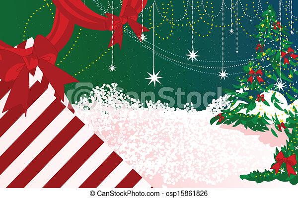 feliz natal, fundo - csp15861826