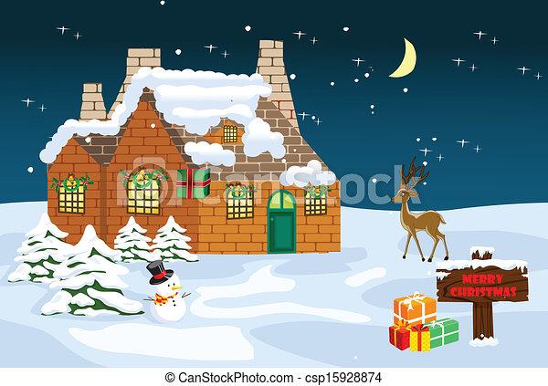 feliz natal, fundo - csp15928874