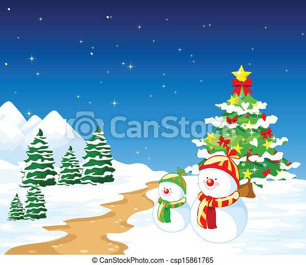 feliz natal, fundo - csp15861765