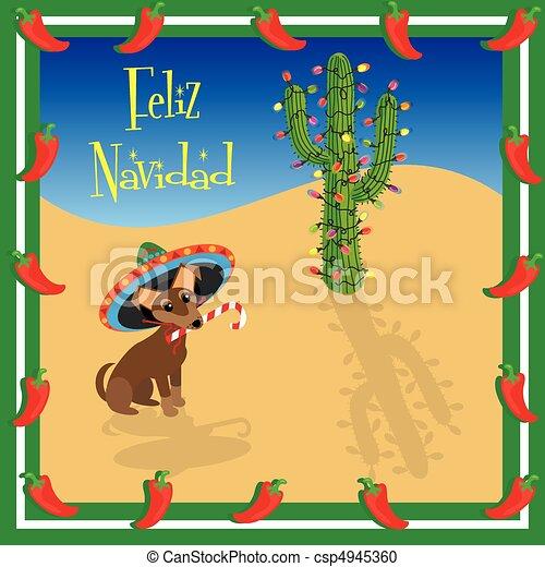 Feliz Navidad Chihuahua - csp4945360