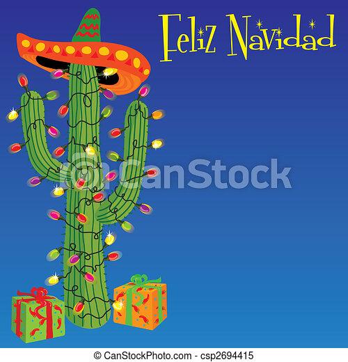 feliz navidad mexican christmas cactus