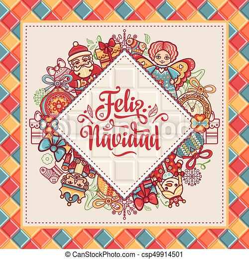 Feliz navidad greeting card in spain xmas festive background feliz navidad greeting card in spain xmas festive background colorful image translated from spanish merry christmas m4hsunfo