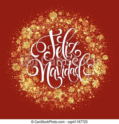 Feliz navidad hand lettering decoration text for greeting vector feliz navidad hand lettering decoration text for greeting card design template merry christmas m4hsunfo