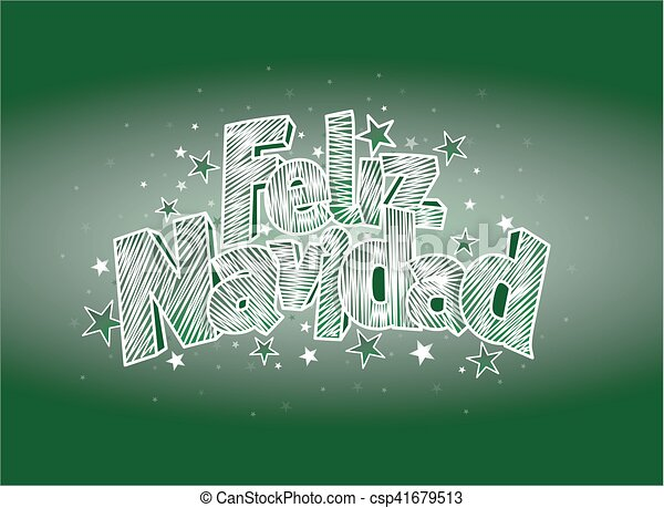 Feliz navidad merry christmas in spanish language green cover of feliz navidad merry christmas in spanish language green cover of greeting card layout size 15 cm x 11 cm lettering design m4hsunfo