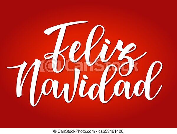 Vector illustration of a sketch greeting holiday red card feliz vector illustration of a sketch greeting holiday red card feliz navidad spanish typography lettering m4hsunfo