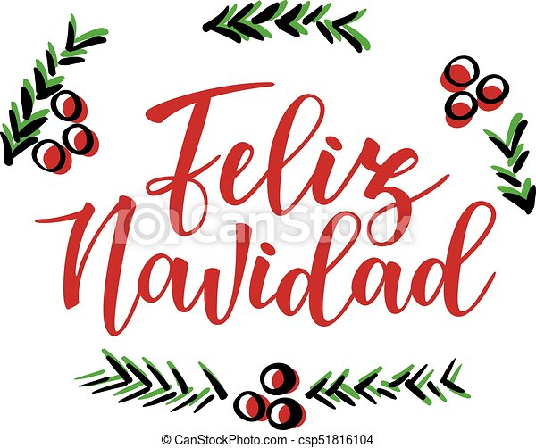 feliz navidad spanish typography lettering holiday greetings spanish quote isolated on white great for christmas and new year cards gift tags