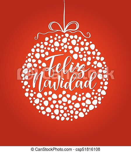 Feliz navidad spanish typography lettering holiday greetings feliz navidad spanish typography lettering holiday greetings spanish quote isolated on white great for christmas and new year cards gift tags m4hsunfo