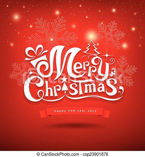 Feliz Navidad - csp23901876