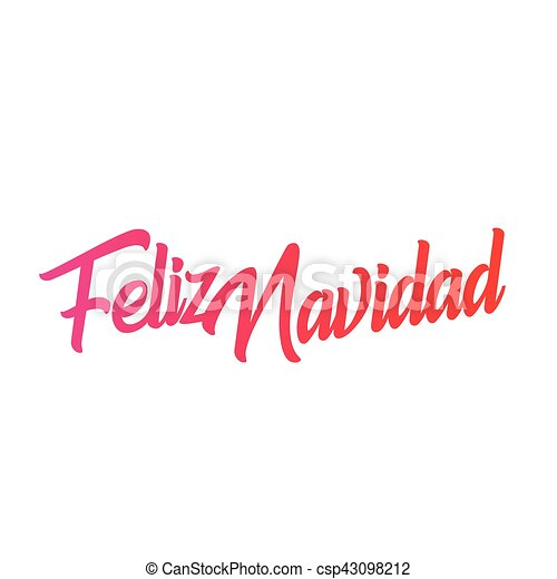 Feliz navidad words vector illustration. lettering christmas and new ...