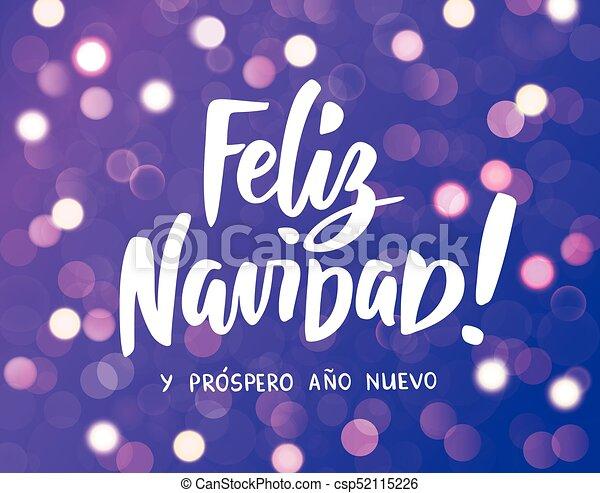 feliz navidad y prospero ano nuevo spanish merry christmas and happy new year hand drawn