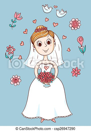 Feliz novia linda - csp26947290