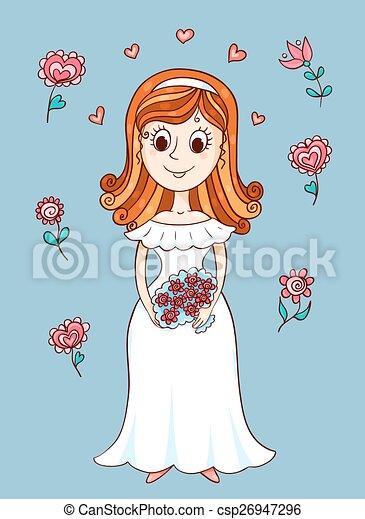 Feliz novia linda - csp26947296