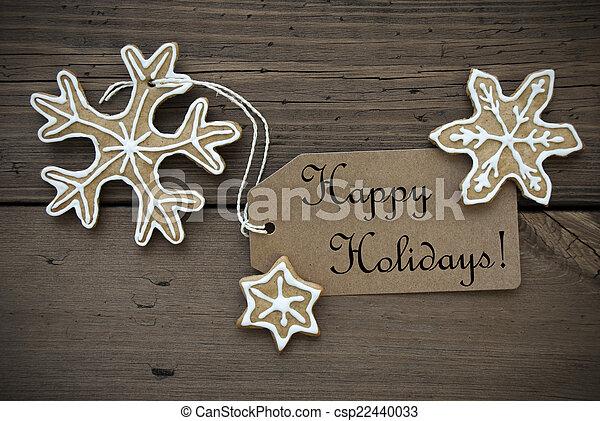 feliz, pães, gengibre, feriados - csp22440033