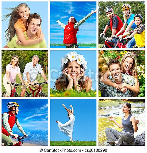 feliz, pessoas - csp6108290