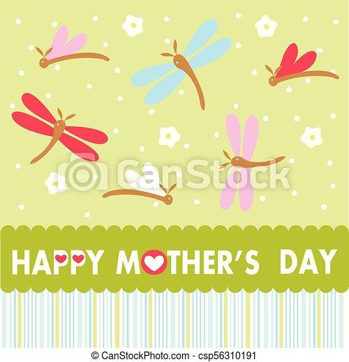 Feliz tarjeta de felicitación de la madre - csp56310191