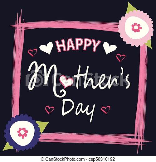 Feliz tarjeta de felicitación de la madre - csp56310192