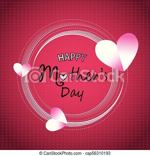 Feliz tarjeta de felicitación de la madre - csp56310193