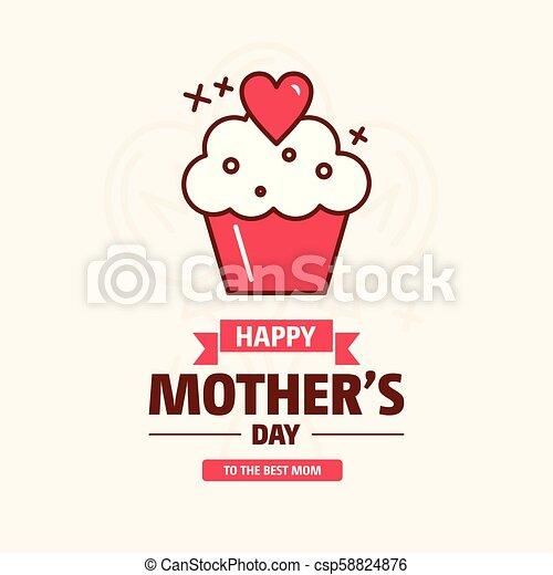 Feliz tarjeta de felicitación de la madre - csp58824876