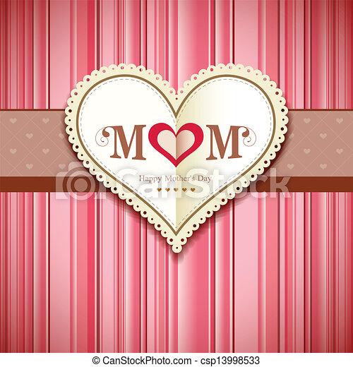 Feliz tarjeta de felicitación de las madres - csp13998533