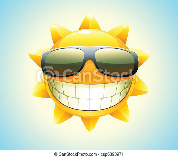 feliz, sol, verão - csp6390971
