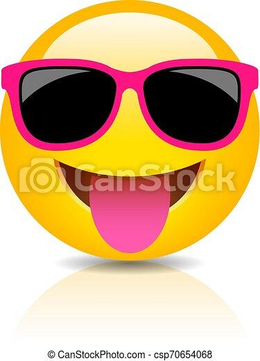 Feliz icono emoji tonto - csp70654068