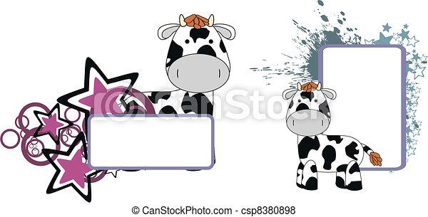 Cow plush dibujitos - csp8380898