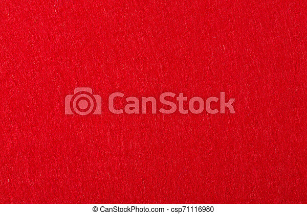 Felt background in red color useful for christmas texture. - csp71116980