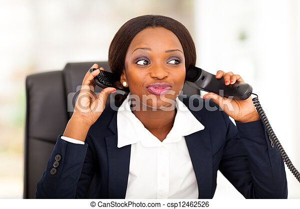 female african American office worker - csp12462526