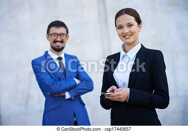 Female and her business partner - csp17440657