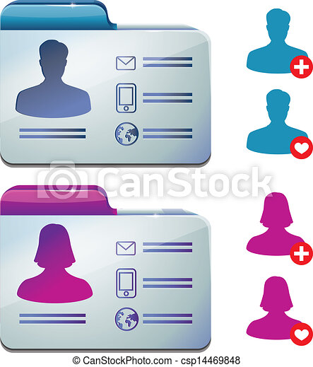 female and male profile for social media - csp14469848