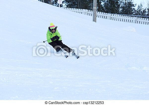 Female athlete running - csp13212253